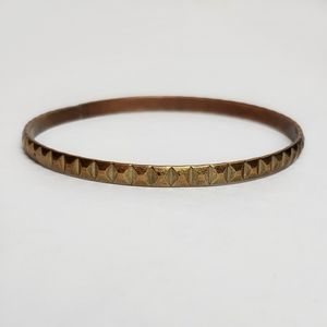 Pyramid Studded Copper Thin Bangle Bracelet